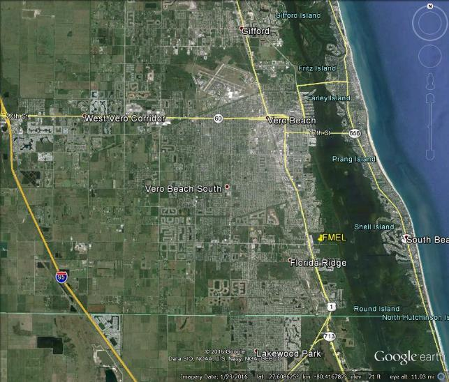 City of Vero Beach Map